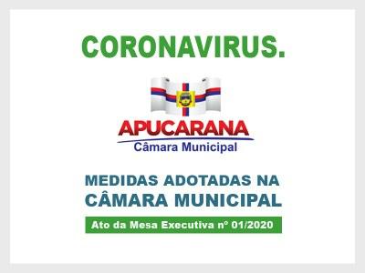 Coronavírus - Medidas na Câmara de Apucarana