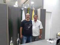 Molina recebe o ex-técnico da Seleção Paranaense e Apucaranense de Vôlei, professor Galdino Vicenzi