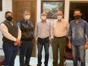 Poim e Marcos da Vila Reis são recebidos pelo Pastor Daniel Acioli