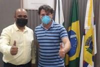 Tiago Cordeiro de Lima recebe presidente do MDB do Paraná, deputado Anibelli Neto